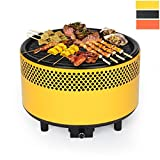 Kbabe BBQ Outdoor Grill Table Top BBQ Grill Charcoal Barbecue Multicolor-Yellow
