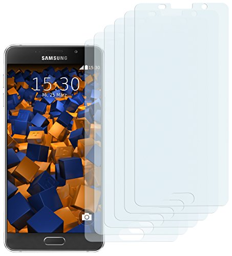 6x mumbi Schutzfolie Samsung Galaxy A5 (2016) Displayschutzfolie - bewusst kleiner als das Display, da dieses gewölbt ist (nicht für Galaxy A5 2015)