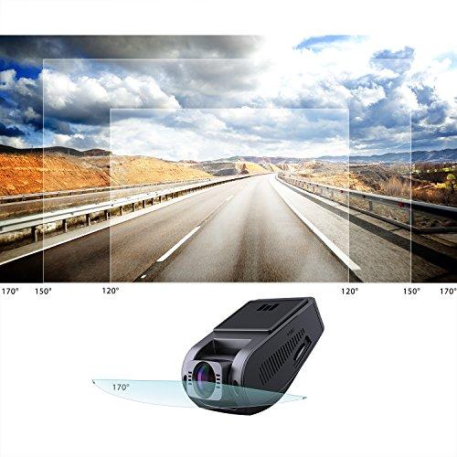 """51wfGmb0M4L - AUKEY Dashcam, Full HD 1080P Cámara para Coche 170° Grados de Amplio Ángulo con Detección De Movimiento, Visión Nocturna, G-Sensor, Loop de Grabación, 1.5"""" LCD Pantalla (DR02)"""