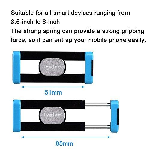 iVoler - Supporto Auto Smartphone Telefoni Cellulari 360 Gradi di Rotazione Porta Cellulare Universale Air Vent Car Mount per iPhone 7/7 Plus/6S/5S/5C/SE, Samsung Galaxy S7/S7 Edge/S6/S6 Edge/S5, Nexu Blu/Nero