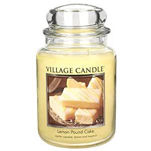 Village Candle 106326388 Lemon Pound Cake Pot de verre Jaune 10,7 x 10,3 x 17,5 cm