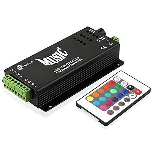 JOYLIT 24 Tasten 144W DC 12V Musik IR Remote Controller für RGB LED Strip Streifen
