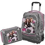 Maggie & blanche Schoolpack Trousse 3zip complet + Trolley Sac à Dos–école 2018–2019–Maggie et blanc produit officiel