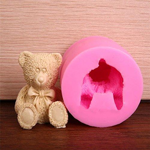 Bluelover Bella 3D silicone dell'orso dell'orsacchiotto muffa del fondente di