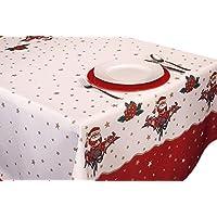 ExclusivoCIR Manteles Joyeaux Noel Navidad Pascua estampados antimanchas Colores Primaverales Decoracion Hogar (350 x 150 cm)