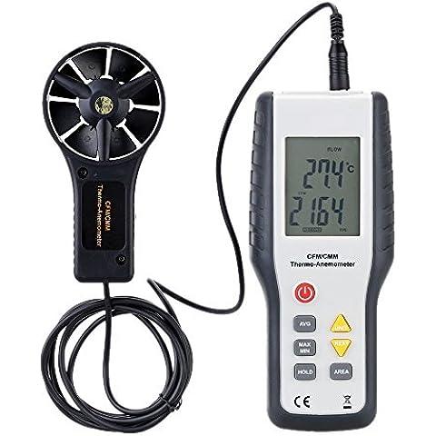 Sunray Digital Lcd Anemómetro Digital Profesional Mide Caudal, Velocidad Y Temperatura