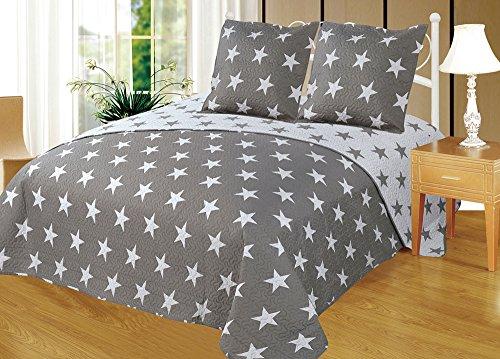 Colcha Boutí Reversible+Cuadrantes Estrellas (1750, 180x260+1 cuadrante (para cama de 90))