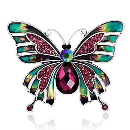 Eudola Broche, Forme de Papillon Rétro Broche Accessoires de Ornée Exquis Bijoux Cadeau pour Les Fmmes Dame Filles Eudola