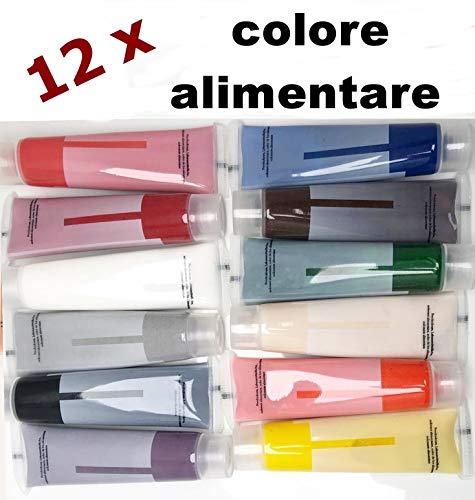 Colore liquido alimentare 12 x 15ml