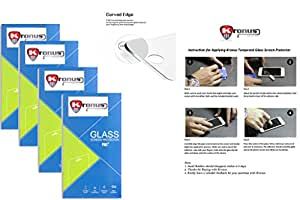 Kronus (Pack Of 4) Tempered Glass Screen Protector For Samsung I9100 Galaxy S II||2.d D Curved Edged Glass||Reusable Packaging|| Perfect Fit||Oil Coated|