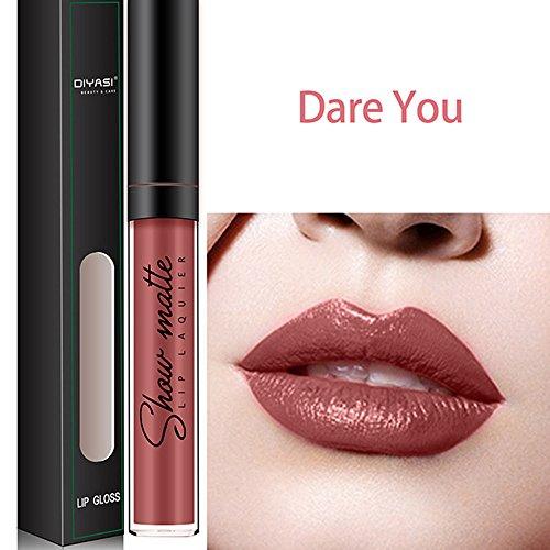 Brillant à lèvres, GreatestPAK Rouge à lèvres Liquide imperméable à l'eau hydratant à Long Terme Brillant à lèvres de Diamant 16 Couleurs (2#)