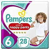 Pampers - Active Fit Pants - Couches-culottes Taille 6 (+15 kg) - Pack Géant (x28 culottes)