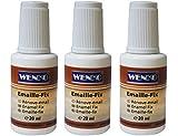 3x WENKO 5660515100 Emaille-Fix - Reparaturlösung, 20 ml, weiß