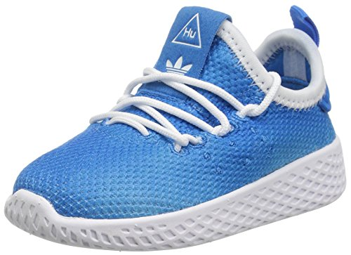 adidasAQ0019 - Pw Tennis Hu I Unisex-Kinder, Blau (Bright Blue/White/White), 27 EU M Medium Kleinkind (Adidas Sneaker Toddler)