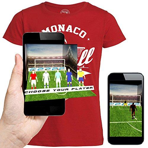 3D animierte T-shirt FOOTBALL MONACO Augmented Reality - PIXEL EVOLUTION - Mann Schwarz