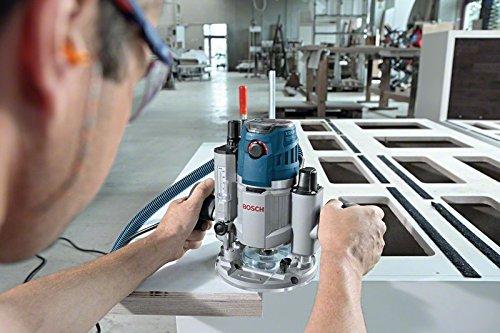 Bosch Professional GOF 1600 CE Oberfräse, 8/12 mm Spannzange, Absaugadapter, Parallelanschlag, Spannzangen, Zentrierstift, 1.600 W, L-Boxx - 2