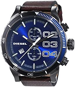diesel herren armbanduhr xl chronograph quarz leder dz4312. Black Bedroom Furniture Sets. Home Design Ideas