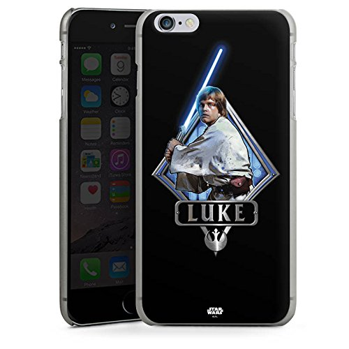 Apple iPhone X Silikon Hülle Case Schutzhülle Star Wars Merchandise Fanartikel Luke Skywalker Hard Case anthrazit-klar