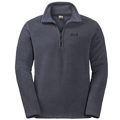 Jack Wolfskin | Herren Fleece Pullover | Stehkragen | Logo Rücken | Nanuk 200 (XXL, ebony) - Schnitt-fleece