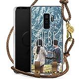 DeinDesign Samsung Galaxy S9 Plus Carry Case Hülle zum Umhängen Handyhülle mit Kette Geschwister Liebe Spruch