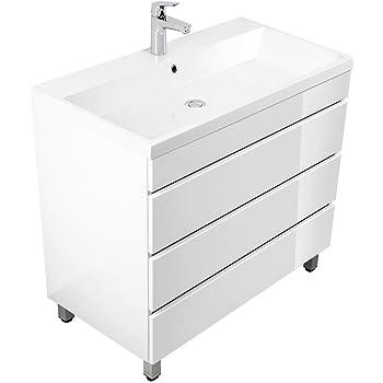 Waschplatz Stand Standmobel Inkl Mineralguss Waschbecken In Hochgl