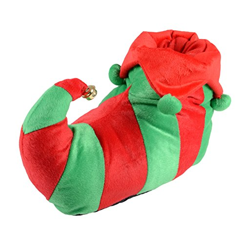 unisex-elf-red-green-christmas-novelty-slippers-with-non-slip-soles-uk-3-4