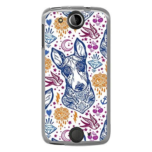BJJ SHOP Custodia Trasparente per [ Acer Liquid Jade S ], Cover in Silicone Flessibile TPU, Design: Tatuaggio e Bull Terrier
