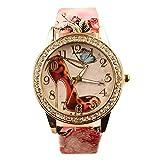 Sanwood Womens Rhinestone High-Heeled Shoe Wrist Watch (Type 4)