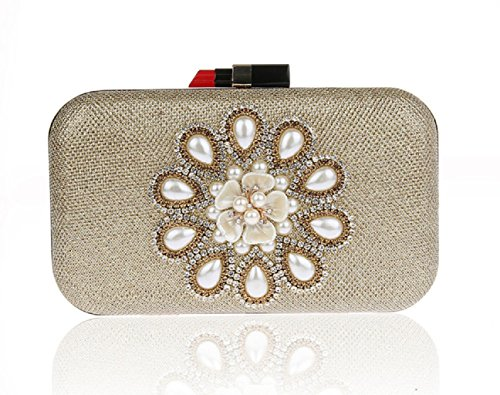 strass Party Pack/Fiori perline borsa da sera/Borsa a mano donna-A A