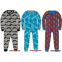 Enfants personnage salopette de coton Pyjamas Onesie officiel 3 caractères disponibles BATMAN, Angry Birds et SUPERMAN TAILLE 3-10 ANS (ANGRY BIRDS, 7-8 YEARS)