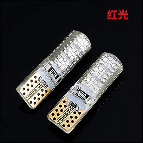 TXDQFa Super bright LED day lights car lights line lights T10 two,6030 red