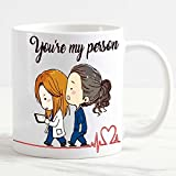 csm Informatica Tazza Mug personalizzata Grey'Anatomy You are My Person Vintage