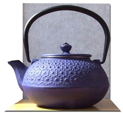 Théière en fonte Violet/motif fleurs 0,6 l