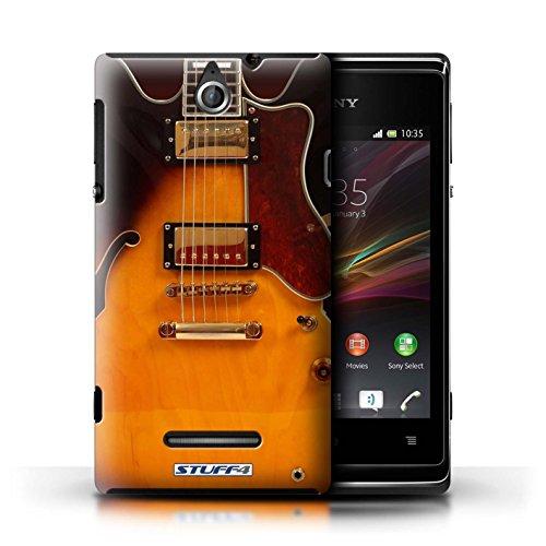 Kobalt® Imprimé Etui / Coque pour Sony Xperia E / Sunburst Electrique conception / Série Guitare Electro Acoustique