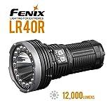 FENIX LR40R - Torcia ricaricabile, colore: Nero