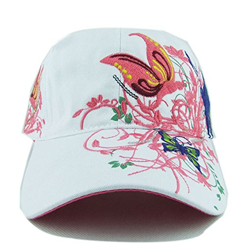 girl-and-women-fashion-outdoor-embroidery-flower-floral-butterfly-baseball-cap-sun-hat-white
