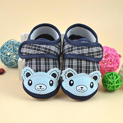 Hunpta Neue jungen Lauflernschuhe Neugeborene Mädchen junge weiche Sohle Krippe Kleinkind Schuhe Canvas Sneaker (12, Blau) Blau