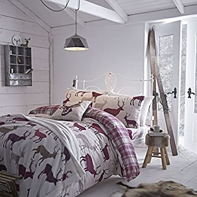 Catherine Lansfield Grampian Stag King Duvet Set produced by Courtleigh - quick delivery from UK.