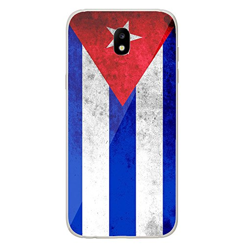 Housse Coque Etui Samsung Galaxy J5 2017 silicone gel Protection arrière - Drapeau Cuba