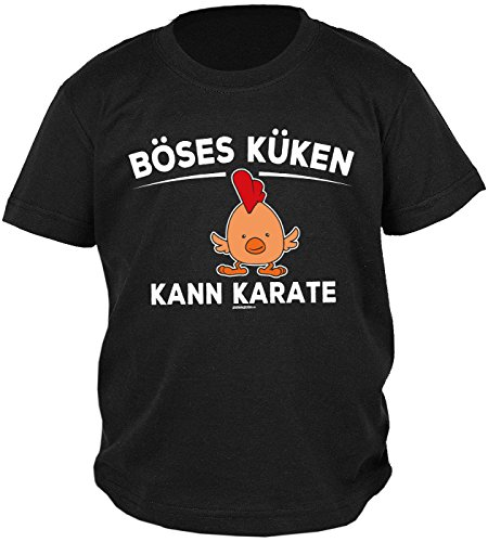 Goodman Design ® Fun Kinder T-Shirt Ostern Küken Kann Karate