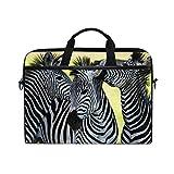 jstel Zebra Afrika Laptop Schulter Messenger Tasche Fall Sleeve für 35,6cm zu 39,6cm mit verstellbarer Notebook Schultergurt