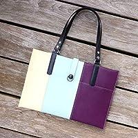 Laptop Laptoptasche Schultertasche Damentasche Violet ultra violett beige hellblau lila schwarz Zebra, von wagnerstrasse
