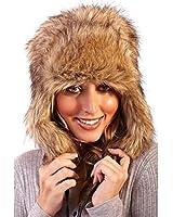 Womens Boutique Faux Fur Outdoor Ski Trapper hat
