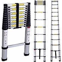 Lifewit Escalera Telescópica de Aluminio Extendido Multiusos Altura 3.8m