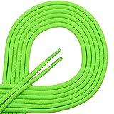 Lacets Di Ficciano, des lacets ronds pour des chaussures d'affaires et en cuir, lacet multisystèm non déchirable, Ø 3mm, longueur 60–130cm, 25couleurs en polyester 100 cm vert fluo