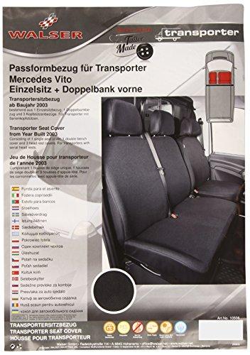 Walser 10508 Mercedes Vito / Viano Autositzbezüge für Einzelsitz und Doppelbank passend für das Baujahr 06/2003-2013