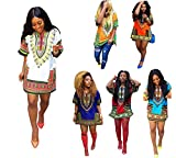 Robe Femme Koly Casual African Dashiki Traditionnelle Robe Kaftan Gypsy Robe Vintage Eté