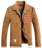 YYZYY Klassischer Retro Herren Herbst Winter Dicke Warm Bequem Multi Pocket Cordjacke Cord Vintage Jacke Mantel XS-3XL (EU/DE XXX-Large, Khaki)