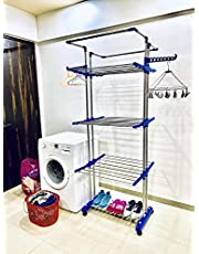 TNC Lifetime Use Rust Proof Strong Nd Rigid Heavy Double Poll Stainless Steel Cloth Dryer Stand