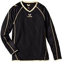 erima Trikot Roma langarm - Camiseta, color nergo/dorado, talla 8 años (128 cm)